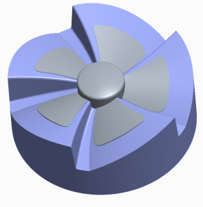 Axial fan with core