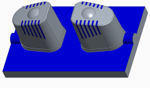 Core for multi-cavity mold