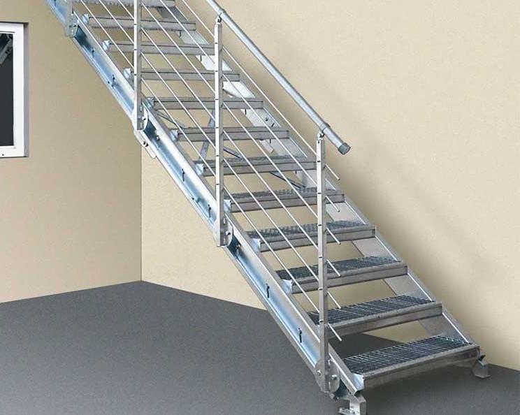 escaliers inclinables en caillebotis