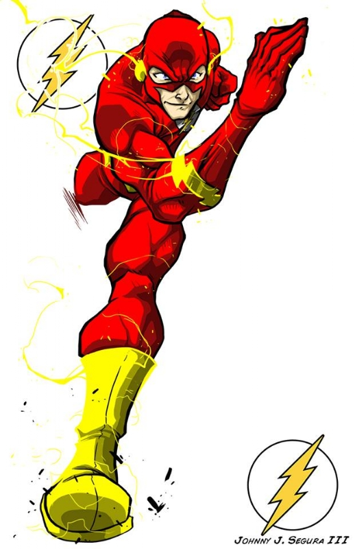 The Flash Cartoon Drawing : flash, cartoon, drawing, Flash, Digital, Drawing, Johnny, Segura,, Segura's, Pinups, Segura, Comic, Gallery