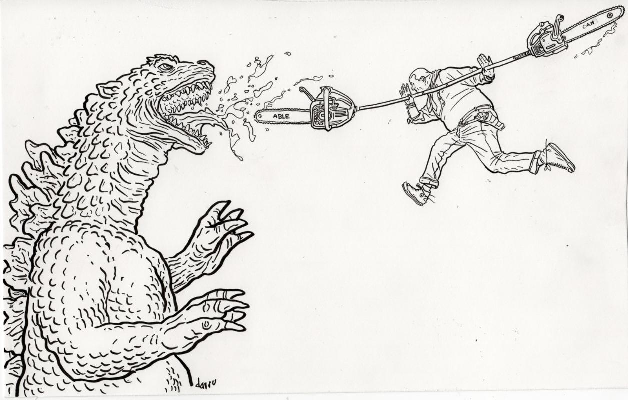 Shaolin Cowboy Vs Godzilla By Geof Darrow In Buster