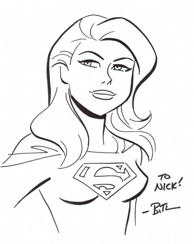 Bruce Timm Supergirl, in Nick Warmack's Supergirl Comic
