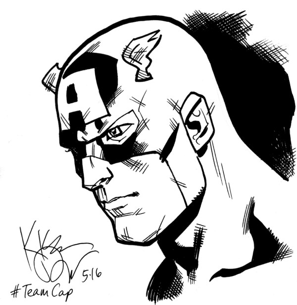 Captain America 5x5 04 In Kieron Dwyer' Sketches