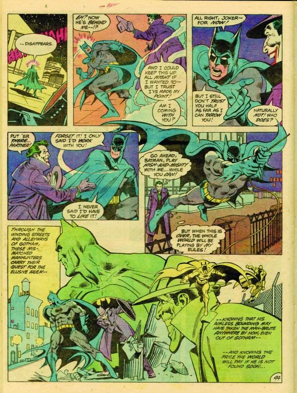 Batman . Incredible Hulk Jos Luis Garc-lpez Comic Book Page Original Art In Hake'