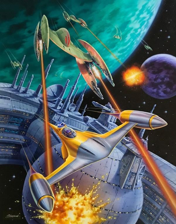 Star Wars Anakin Skywalker Bravo Squadron Space Battle