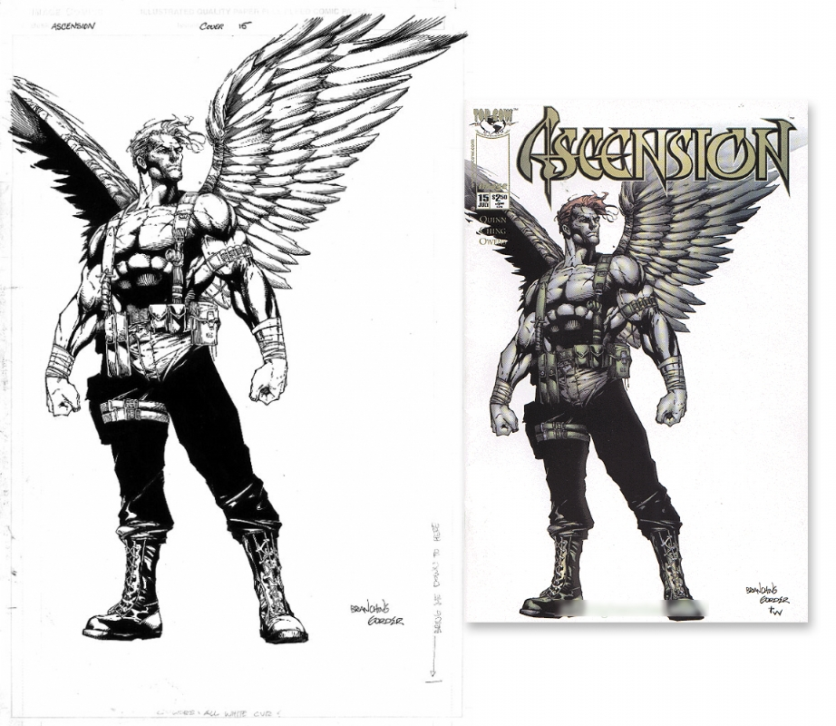 Ascension #15, in Tom Li's My collection of original comic