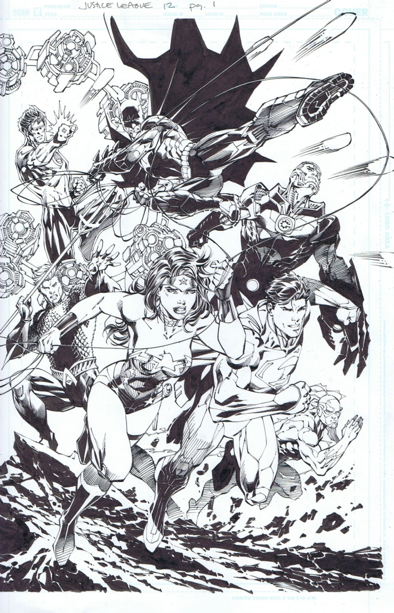 Justice League 12 page 1 in Scott Williamss Justice League Comic Art Gallery Room