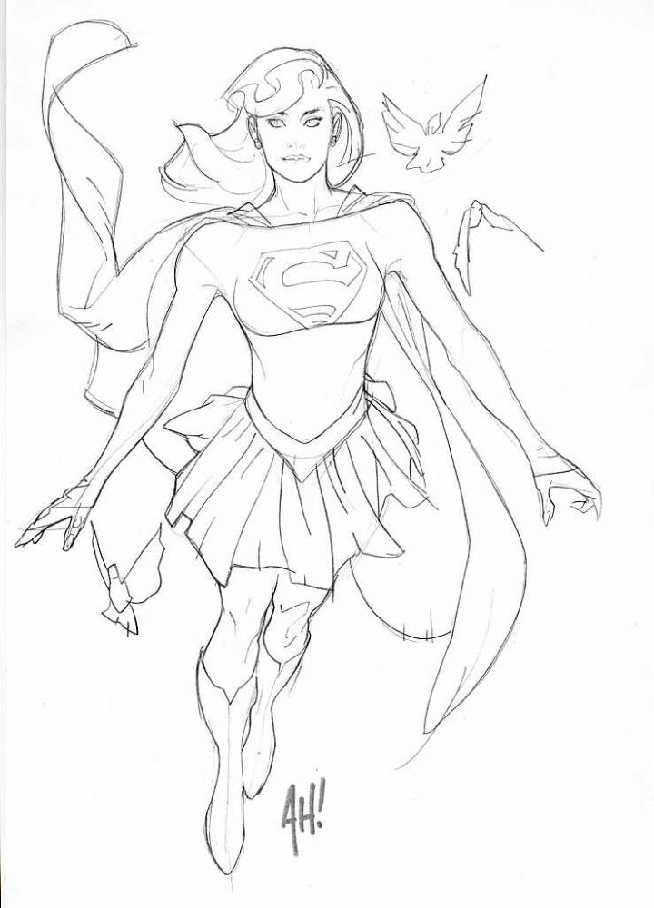 Supergirl by Adam Hughes, in Michael Barrera's Adam Hughes