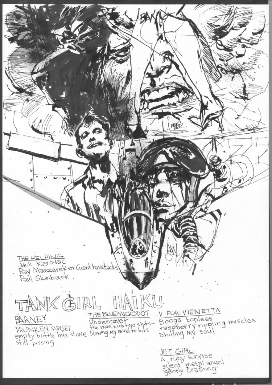 Tank Girl Haiku splash, in David Dingman's Wood, Ashley