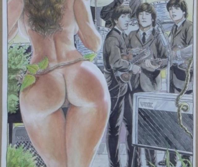 Beatles Meet A Nude Cavewoman By Budd Root Comic Art