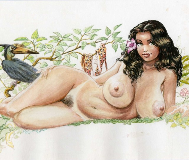 Cavewoman Prehistoric Pin Ups 4 Centerfold Budd Root Nude