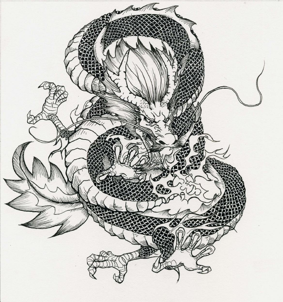 Chinese Dragon, in Raymond Kuang's Personal Art Comic Art