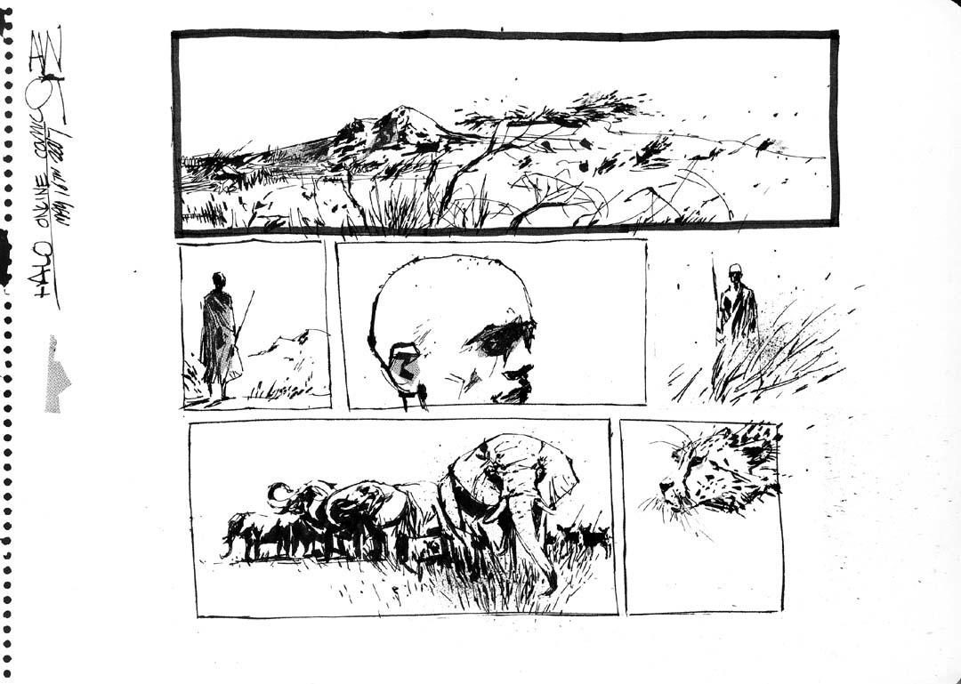 ASHLEY WOOD online comic HALO original art, in Joao