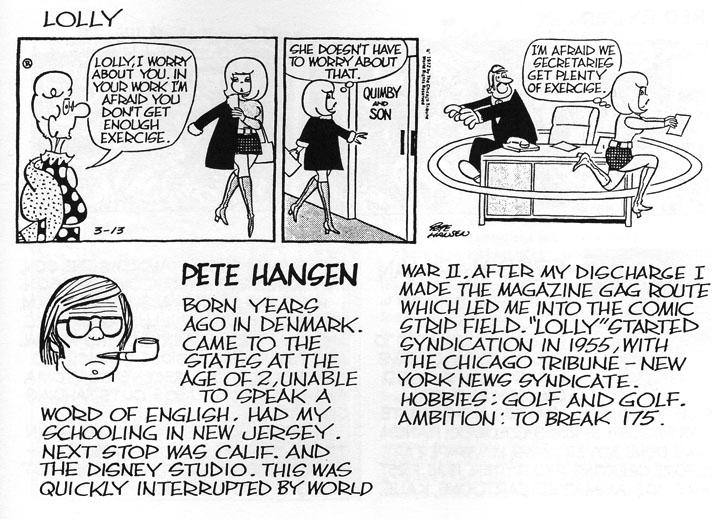 Pete Hansen's Bio, in Lud Hughes's Lolly by Pete Hansen