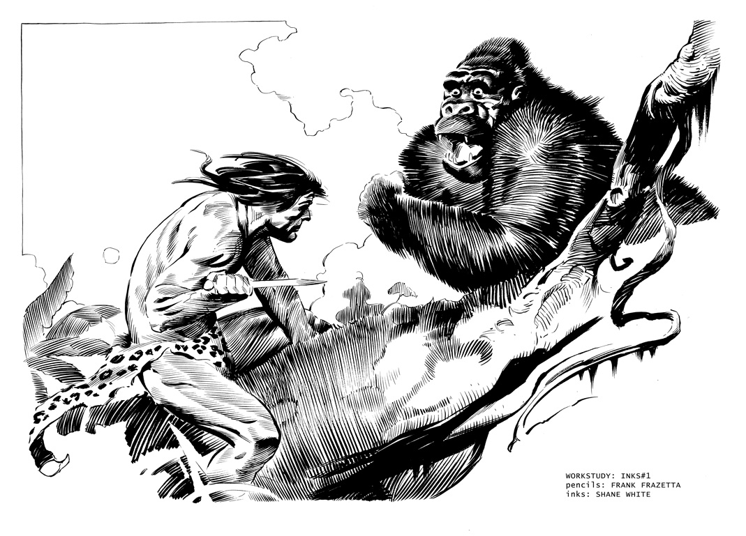 Frank Frazetta Tarzan In Shane White S Workstudy
