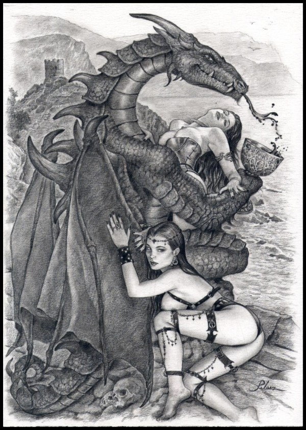 Dragon Tails Joan Pelaez In Greg Wilson' Vampire Vixens And Deadly Females Nudity