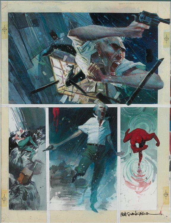 Sienkiewicz Daredevil Love and War in Roger Ks