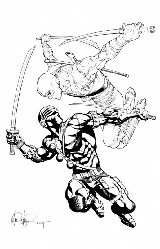 Snake Eyes vs Storm Shadow GI Joe Commission Mike Miller