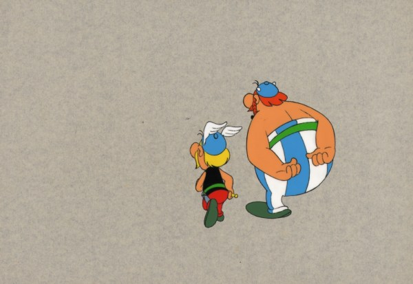 Asterix And Obelix Animation Cell In John Rugr''