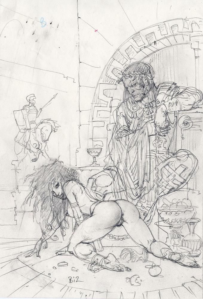 Simon Bisley Comic Art  Ceaser  The Sex Slave 1 Drawing