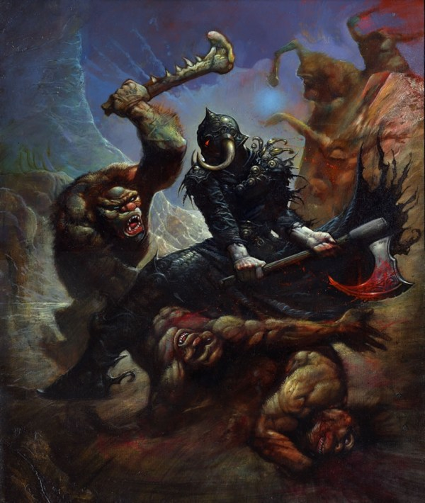 Death Dealer Painting Simon Bisley Sold In Reed' Art