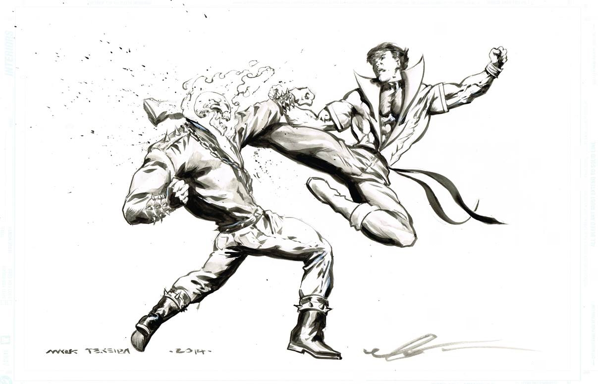 Karate Kid Vs Ghost Rider By Mark Texeira In Travis