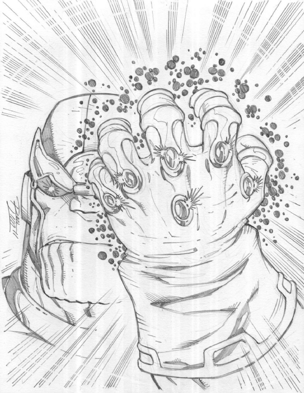 Infinity Gauntlet Thanos Coloring Pages Sketch Coloring Page