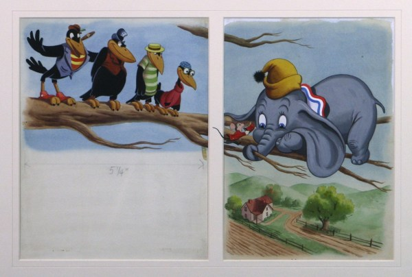 Dumbo And Crows Storybook Illustration In Morgan '