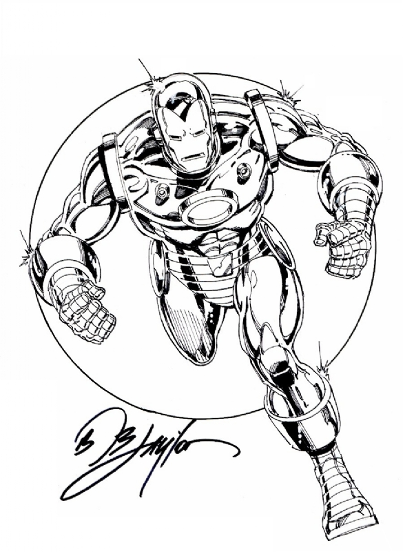 Unclaimed Iron Man Convention Sketch, in Bob Layton's Bob
