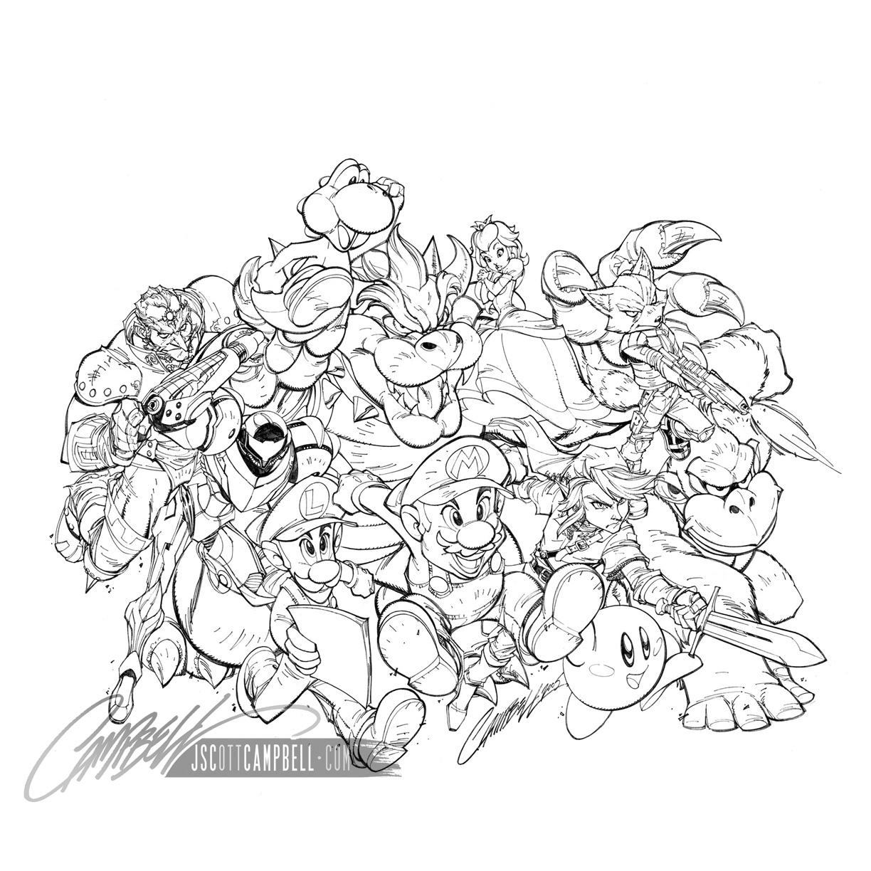 Nintendo Power Poster Original Artwork In J Scott
