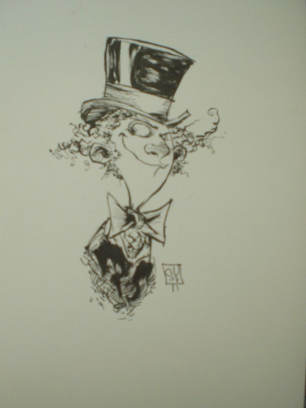 Willy Wonka In Sergio Garcia' Sketches Comic Art