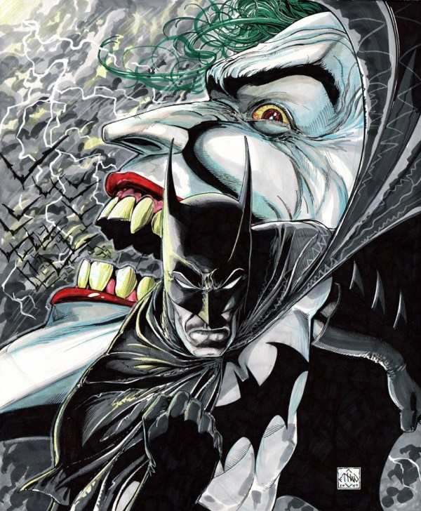 Batman and Joker Comic Book Art