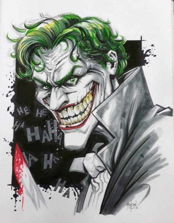 Joker In Ronald Shepherd' Commission Art Work Collection Volume 2 Comic Room