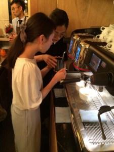 cafe cupola mejiro ラテアート体験講習会2