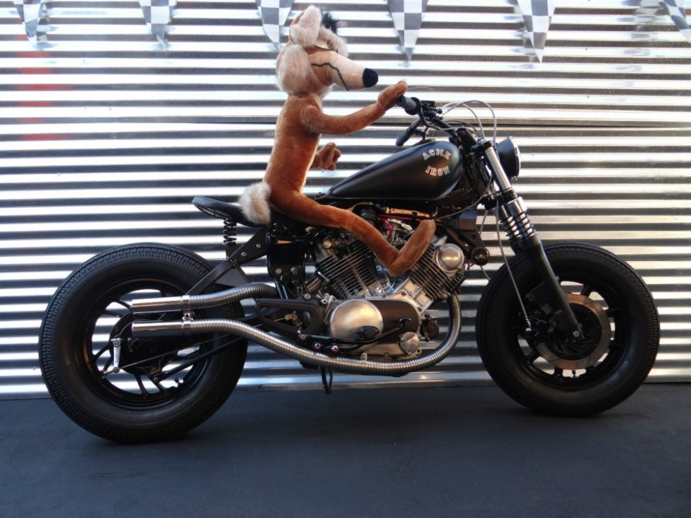 medium resolution of yamaha virago shed built his only request was that he wanted a hard