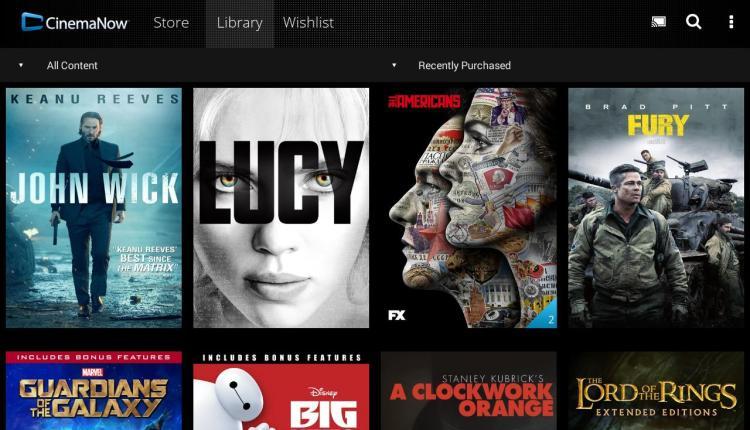 CinemaNow Android