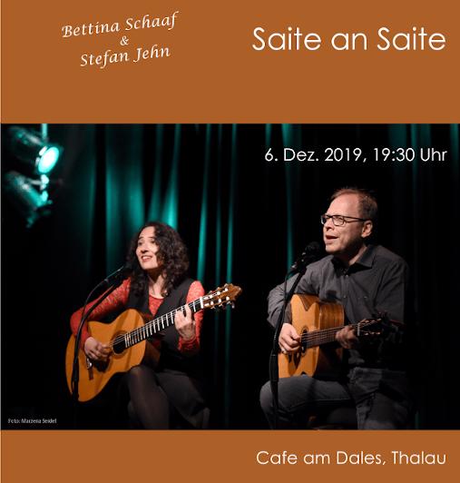 """""""Saite an Saite"""" – mit Bettina Schaaf & Stefan Jehn"""