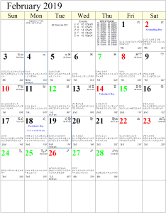 Monthly astrology calendar for february also calendars rh cafeastrology