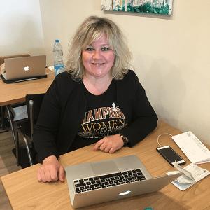 Coworker Claudia Broutin