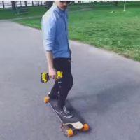 """Mudah dan Murah Buat Sendiri """"Electric Skate Board"""" dengan BOR LISTRIK...Mau Coba...???"""