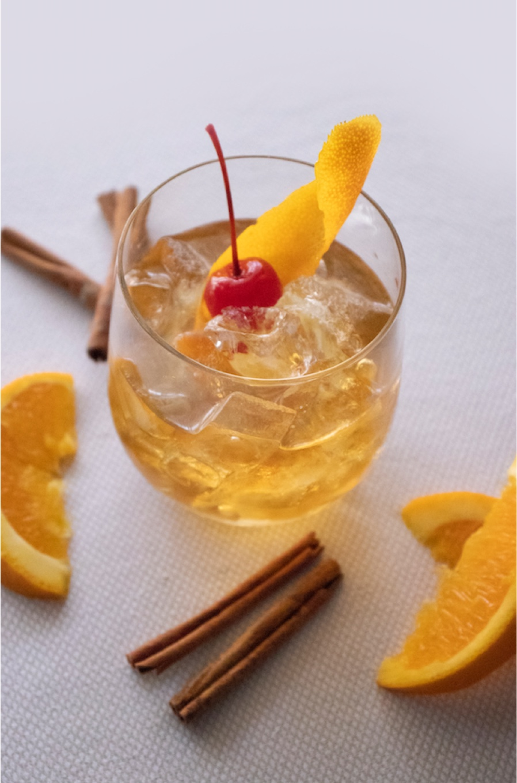 Cognac and Orange Cinnamon Cocktail