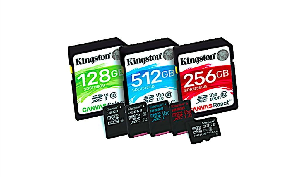 Kingston apresenta linha Canvas de cartões de memória