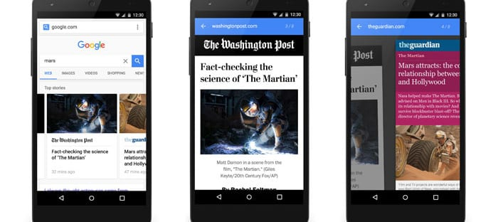Google presenta Accelerated Mobile Pages