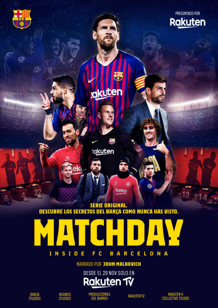 KV MatchDay 3 ESP 724x1024 - Rakuten TV estrena hoy la serie documental Matchday - Inside FC Barcelona, de forma gratuita