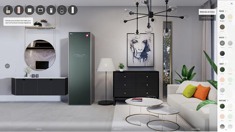LG Furniture Salon - LG refuerza su cartera de productos: aspirador inteligente, casa de diseño, portátiles ultraligeros, monitores gamer y, por supuesto, las mejores Smart TV OLED