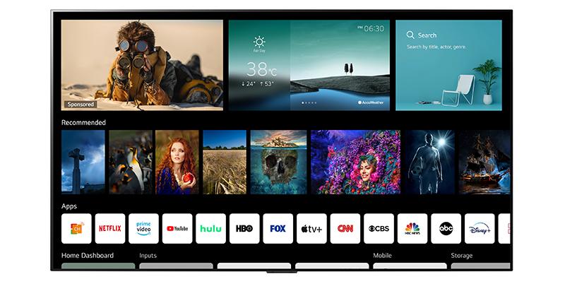 LG Plataforma Smart TV con webOS 6 - LG refuerza su cartera de productos: aspirador inteligente, casa de diseño, portátiles ultraligeros, monitores gamer y, por supuesto, las mejores Smart TV OLED