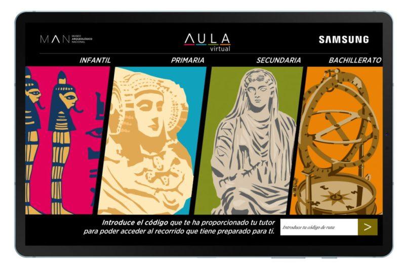 Presentación Man Aula Virtual 3 - El Museo Arqueológico Nacional llega a todas las aulas gracias a Samsung
