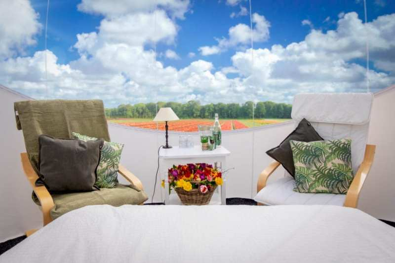 Booking.com te invita a despertar en un campo de tulipanes
