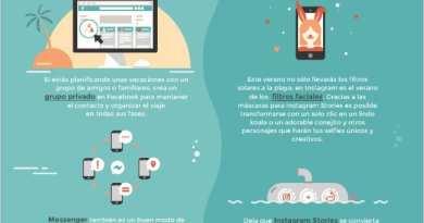 El verano en Facebook e Instagram - Infografía