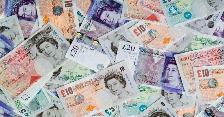 Billete emitido por el banco de Inglaterra